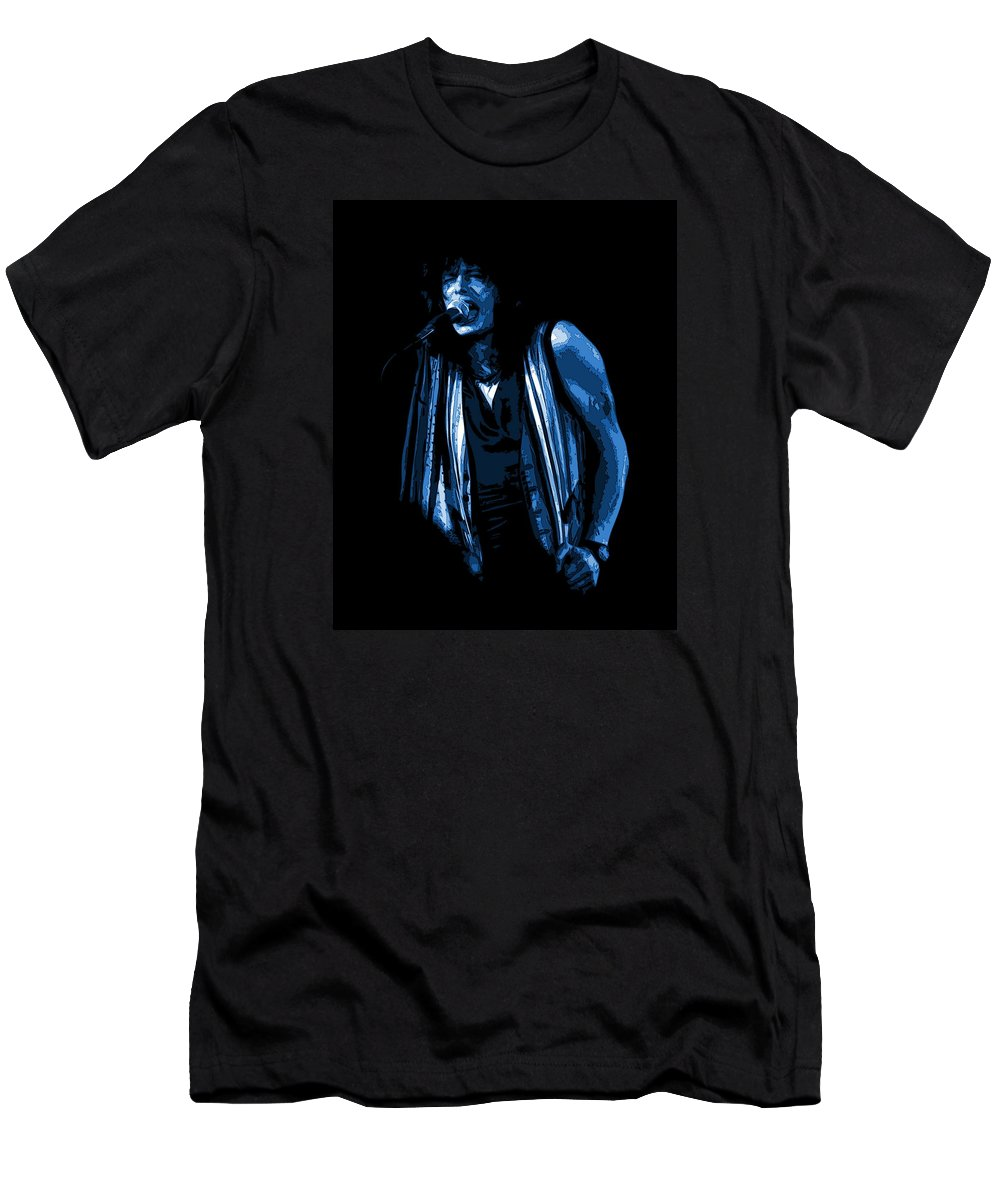 Aerosmith Men's T-Shirt (Athletic Fit) featuring the photograph Steven In Spokane 6c by Ben Upham
