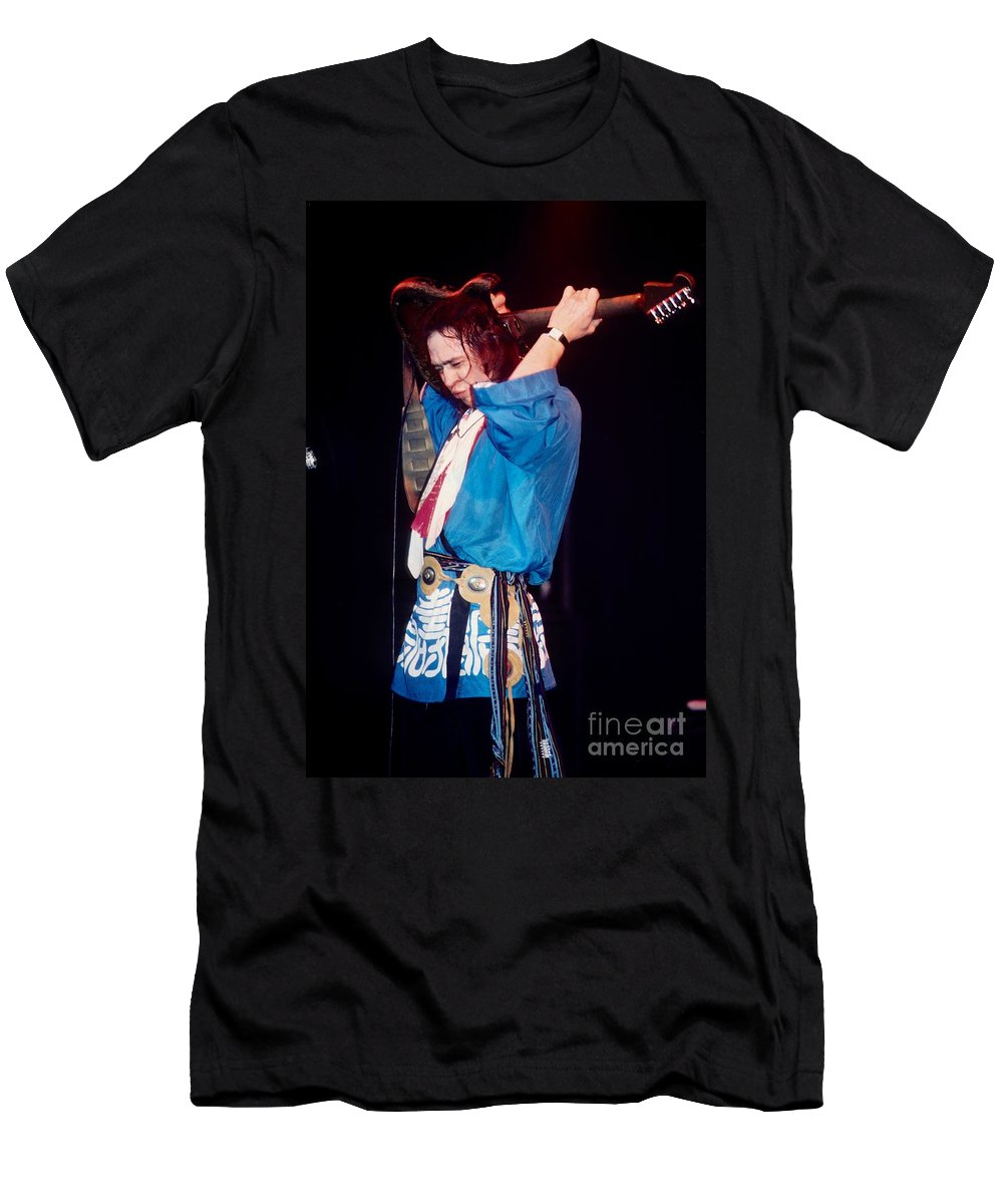 Stevie Ray Vaughn Men's T-Shirt (Athletic Fit) featuring the photograph Stevie Ray Vaughn by David Plastik