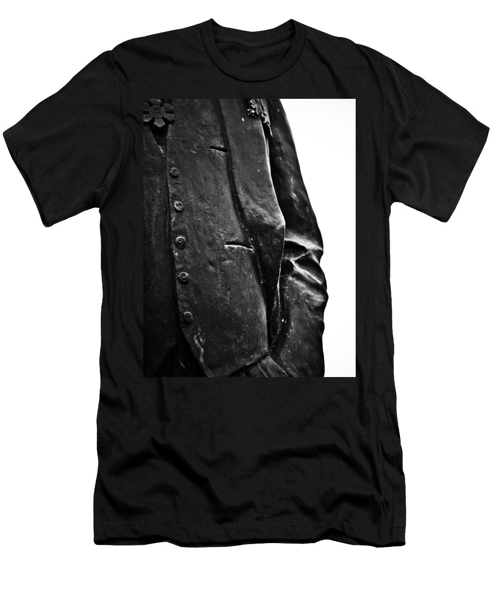 Black And White World Photographer Men's T-Shirt (Athletic Fit) featuring the photograph Stiff Colar by The Artist Project