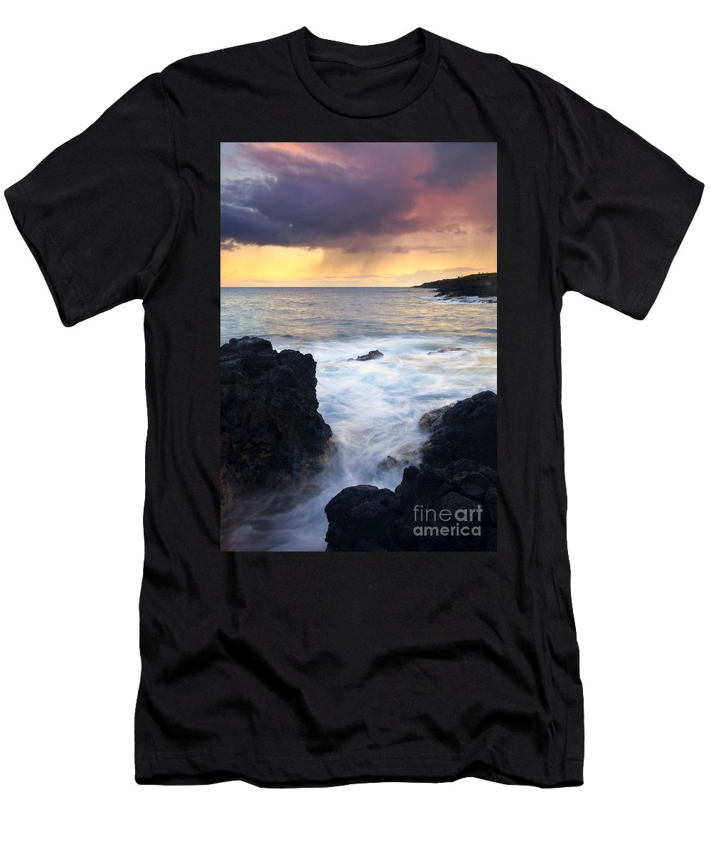 Fissure Men's T-Shirt (Athletic Fit) featuring the photograph Storm Fissure by Mike Dawson