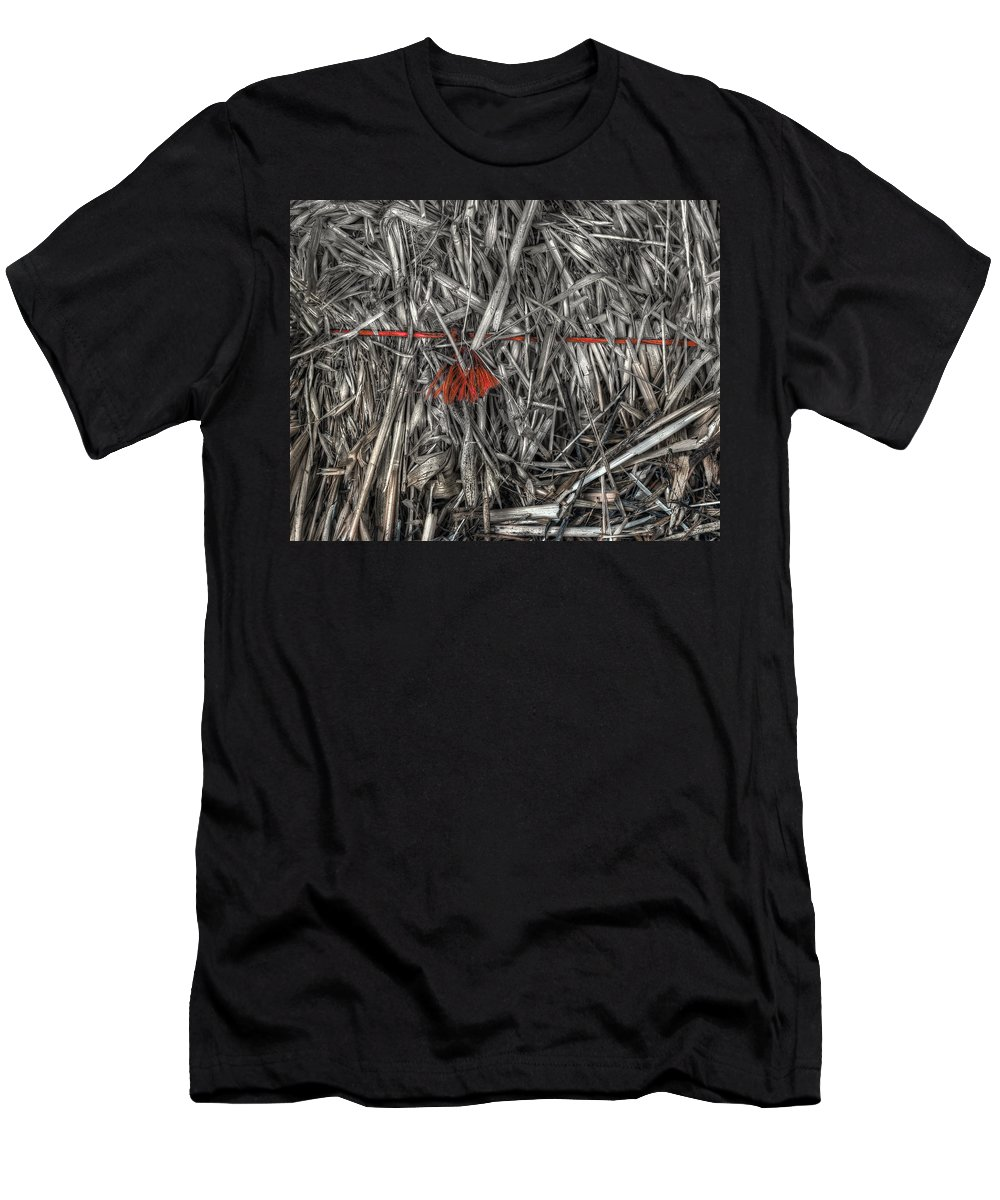 Straw Men's T-Shirt (Athletic Fit) featuring the photograph Straw Bale by Wayne Sherriff