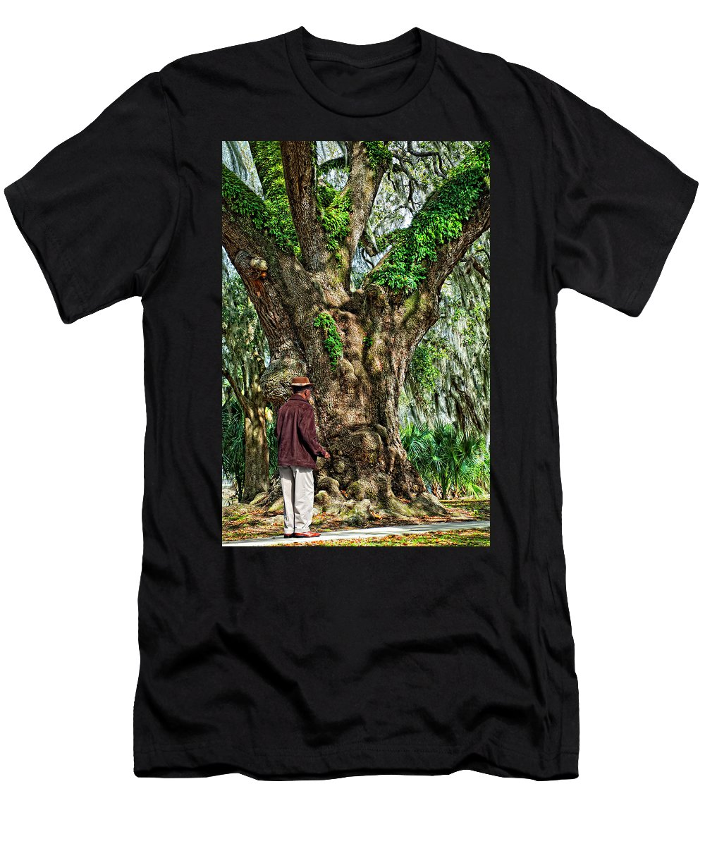 New Orleans Men's T-Shirt (Athletic Fit) featuring the photograph Strolling With Giants by Steve Harrington