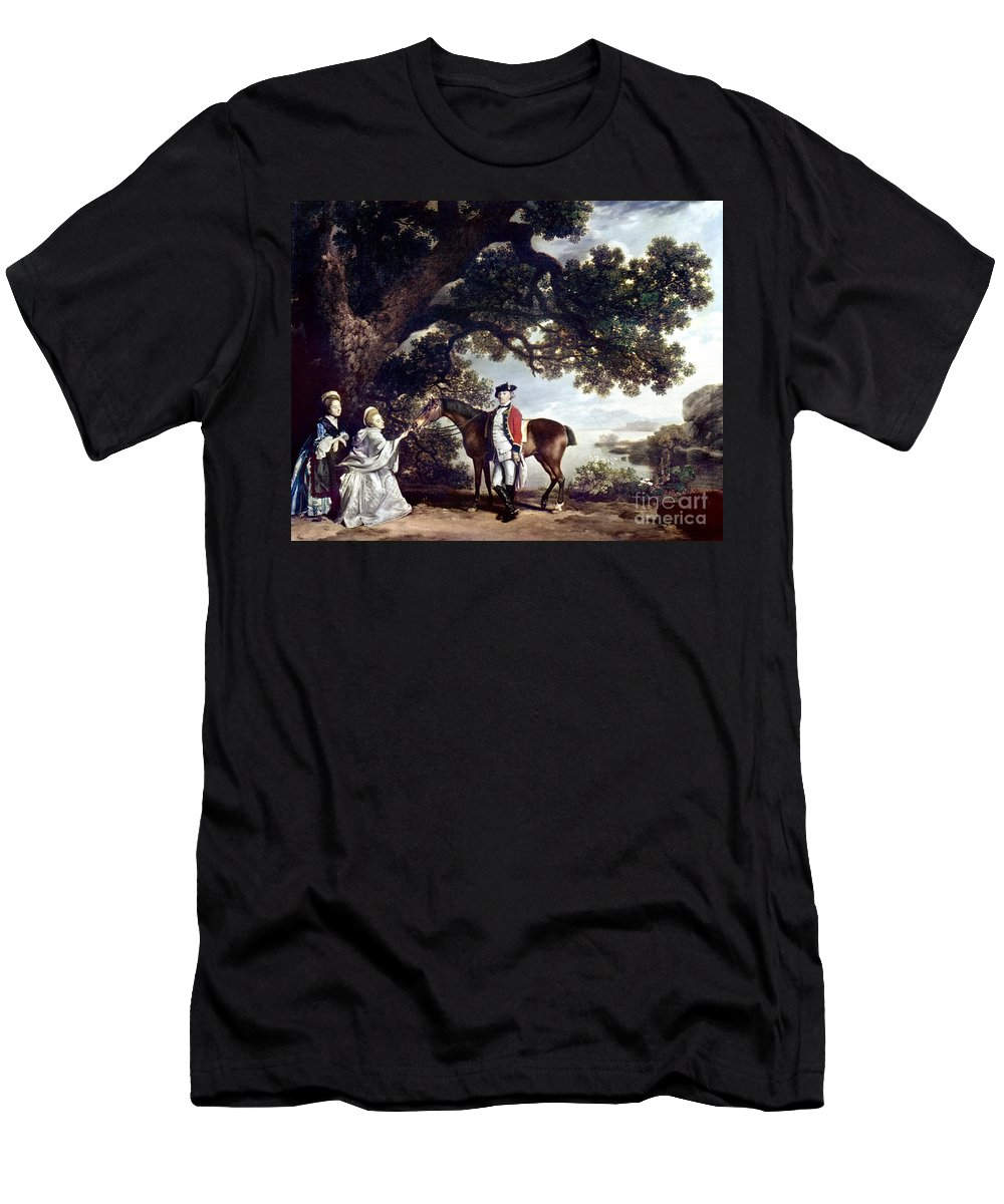 1769 Men's T-Shirt (Athletic Fit) featuring the painting Stubbs Pocklington 1769 by Granger