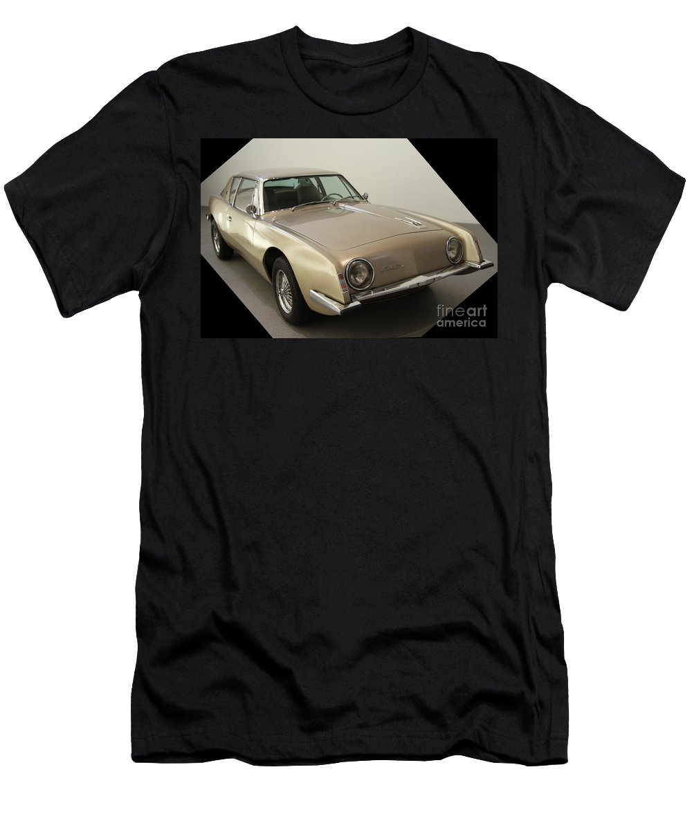 Studebaker Avanti Men's T-Shirt (Athletic Fit) featuring the photograph Studebaker Avanti by Christiane Schulze Art And Photography