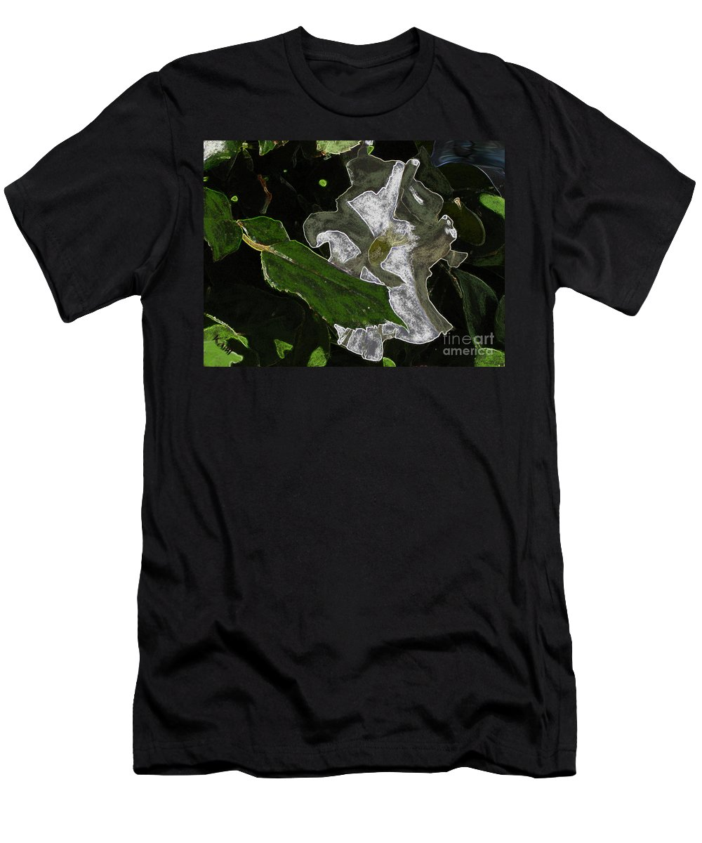 Flower Men's T-Shirt (Athletic Fit) featuring the painting Summer Flower by Kami Catherman