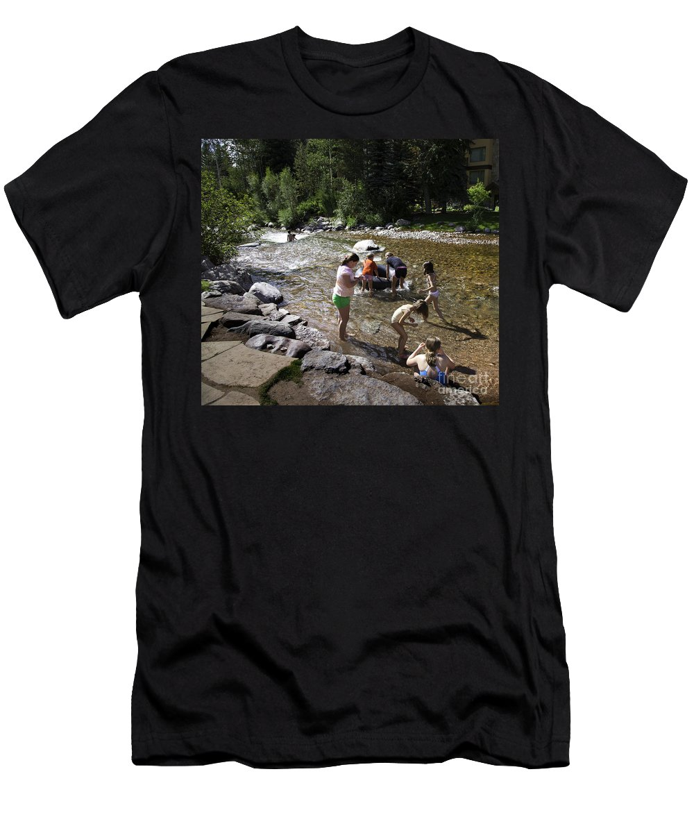 Children Men's T-Shirt (Athletic Fit) featuring the photograph Summer Fun In Vail by Madeline Ellis