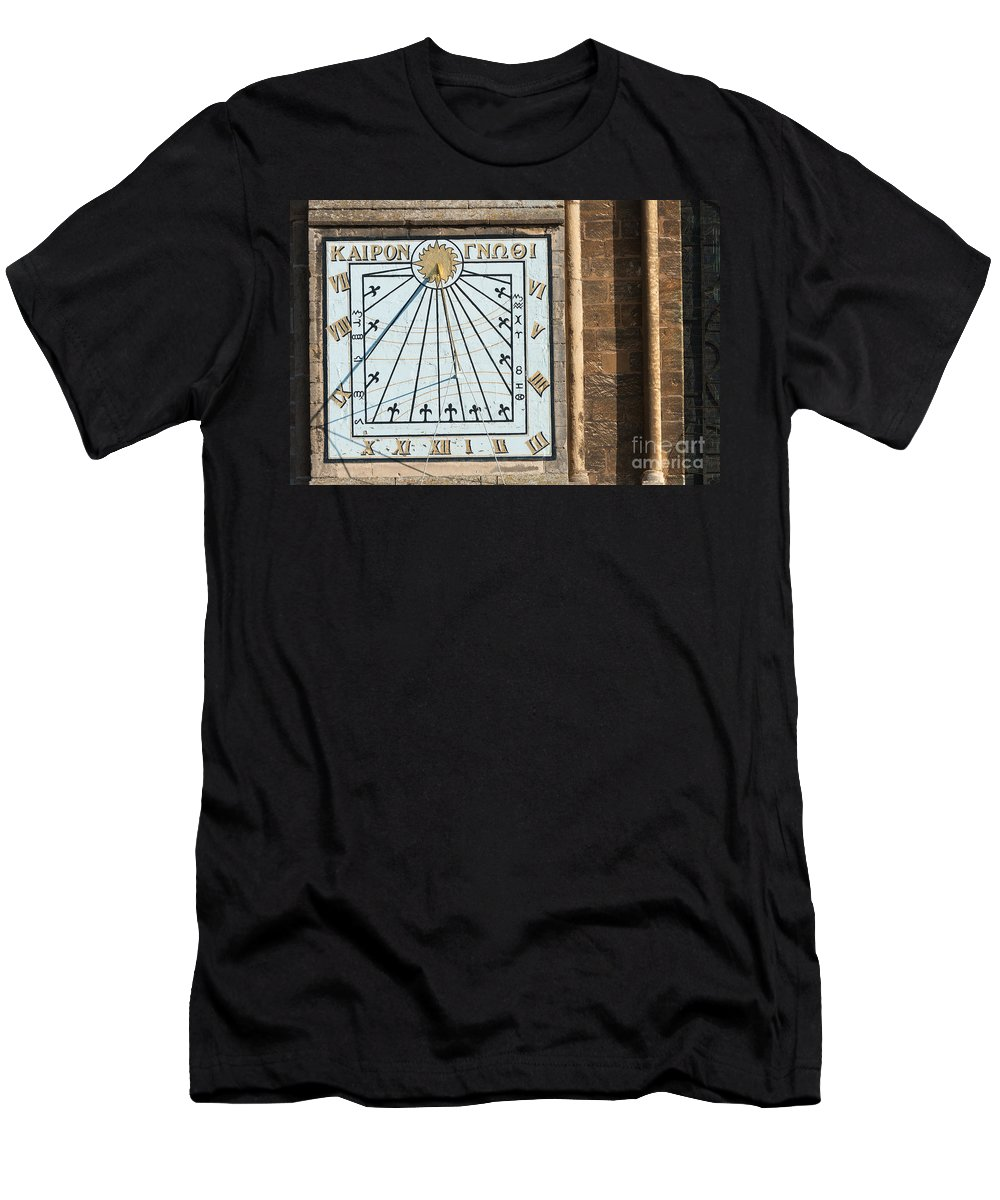 Ancient Men's T-Shirt (Athletic Fit) featuring the photograph Sundial by Andrew Michael