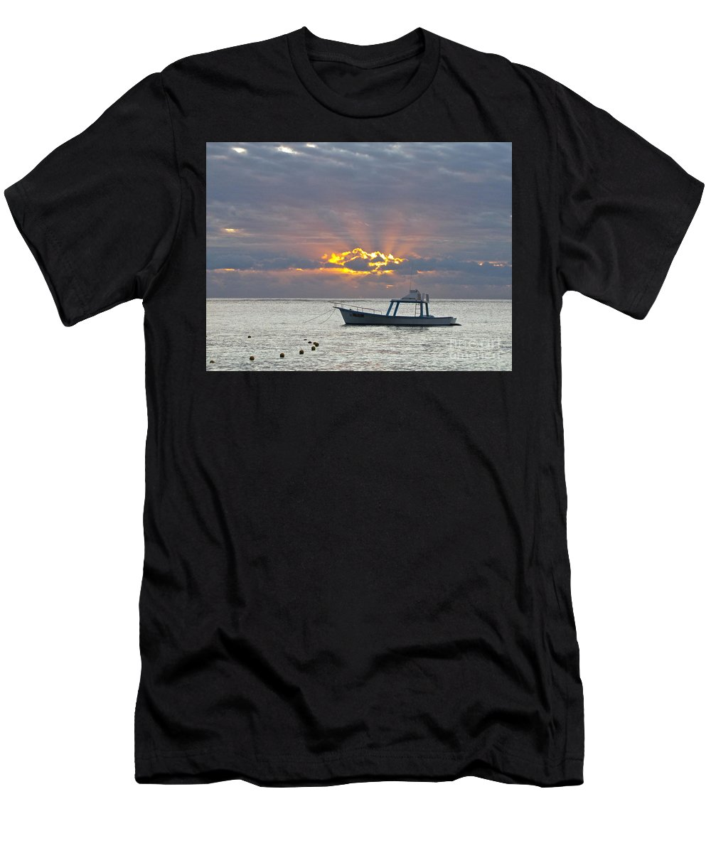 Photography Men's T-Shirt (Athletic Fit) featuring the photograph Sunrise - Puerto Morelos by Sean Griffin