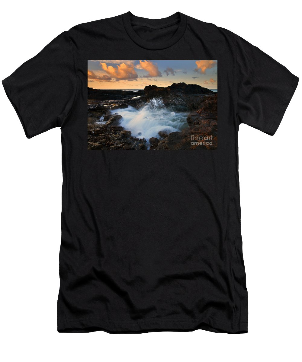 Arch Men's T-Shirt (Athletic Fit) featuring the photograph Sunrise Arch by Mike Dawson