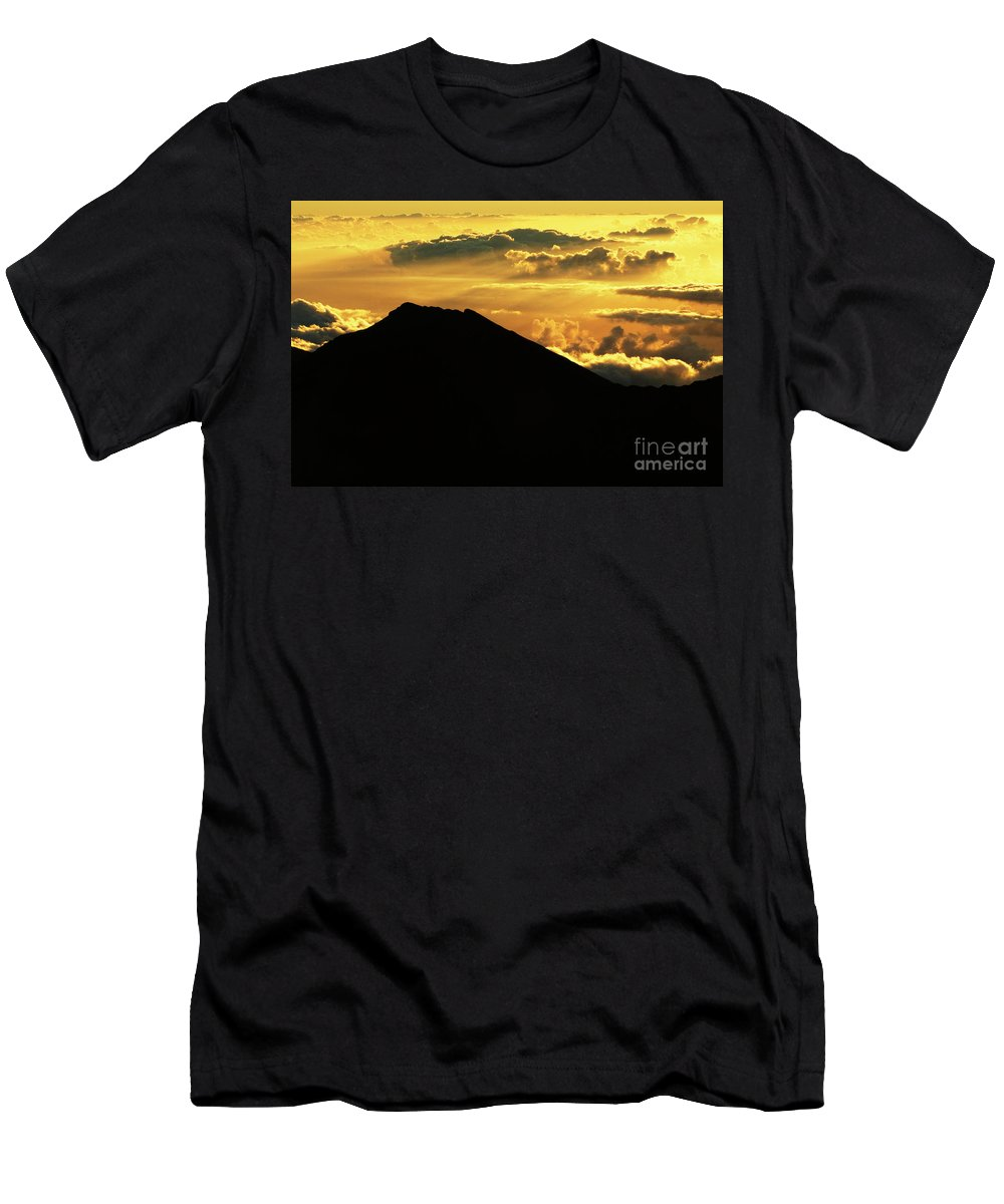 Haleakala Crater Men's T-Shirt (Athletic Fit) featuring the photograph Sunrise Over Maui by Bob Christopher