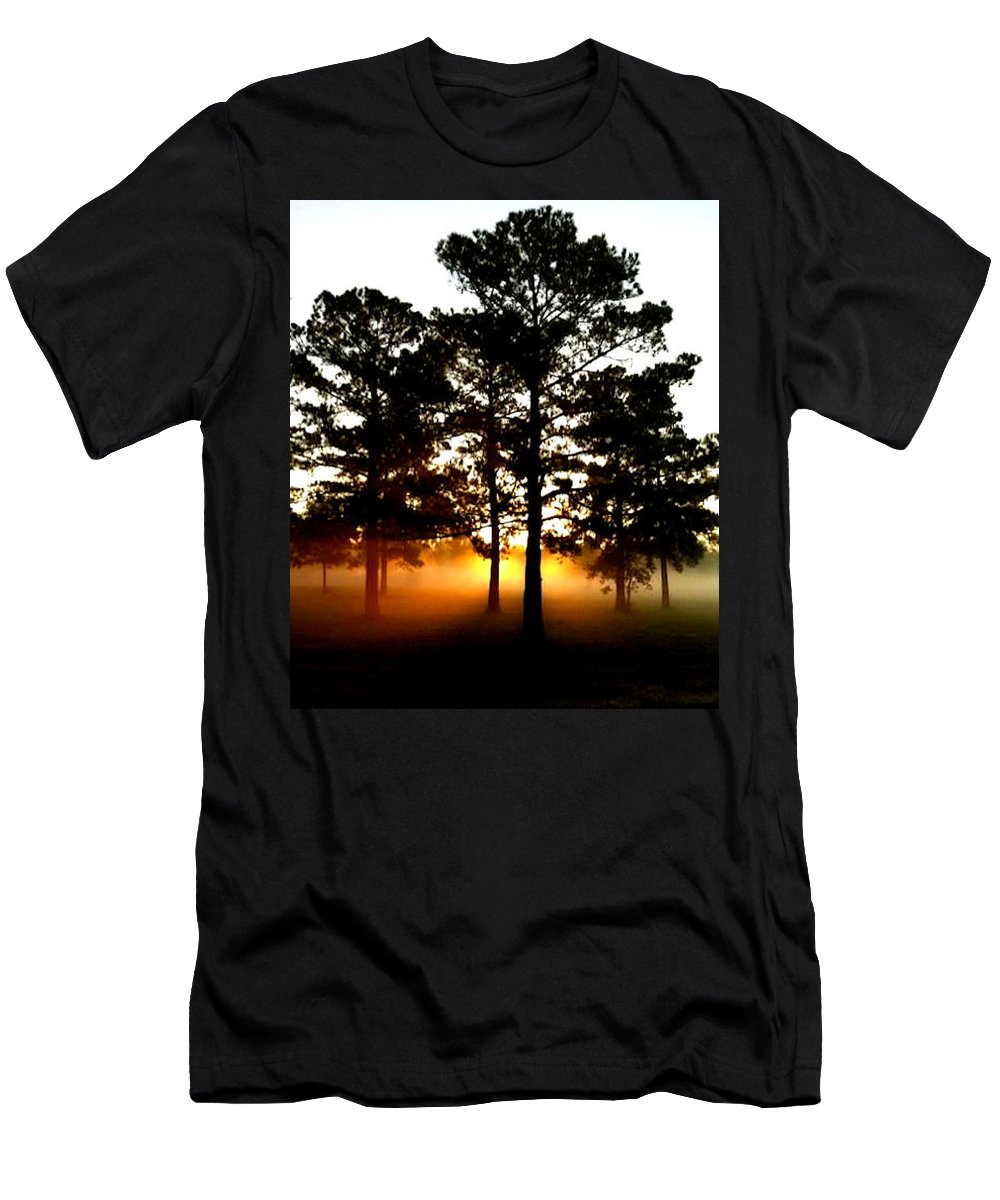 Sunrise Men's T-Shirt (Athletic Fit) featuring the photograph Sunrise3 by Amber Stubbs