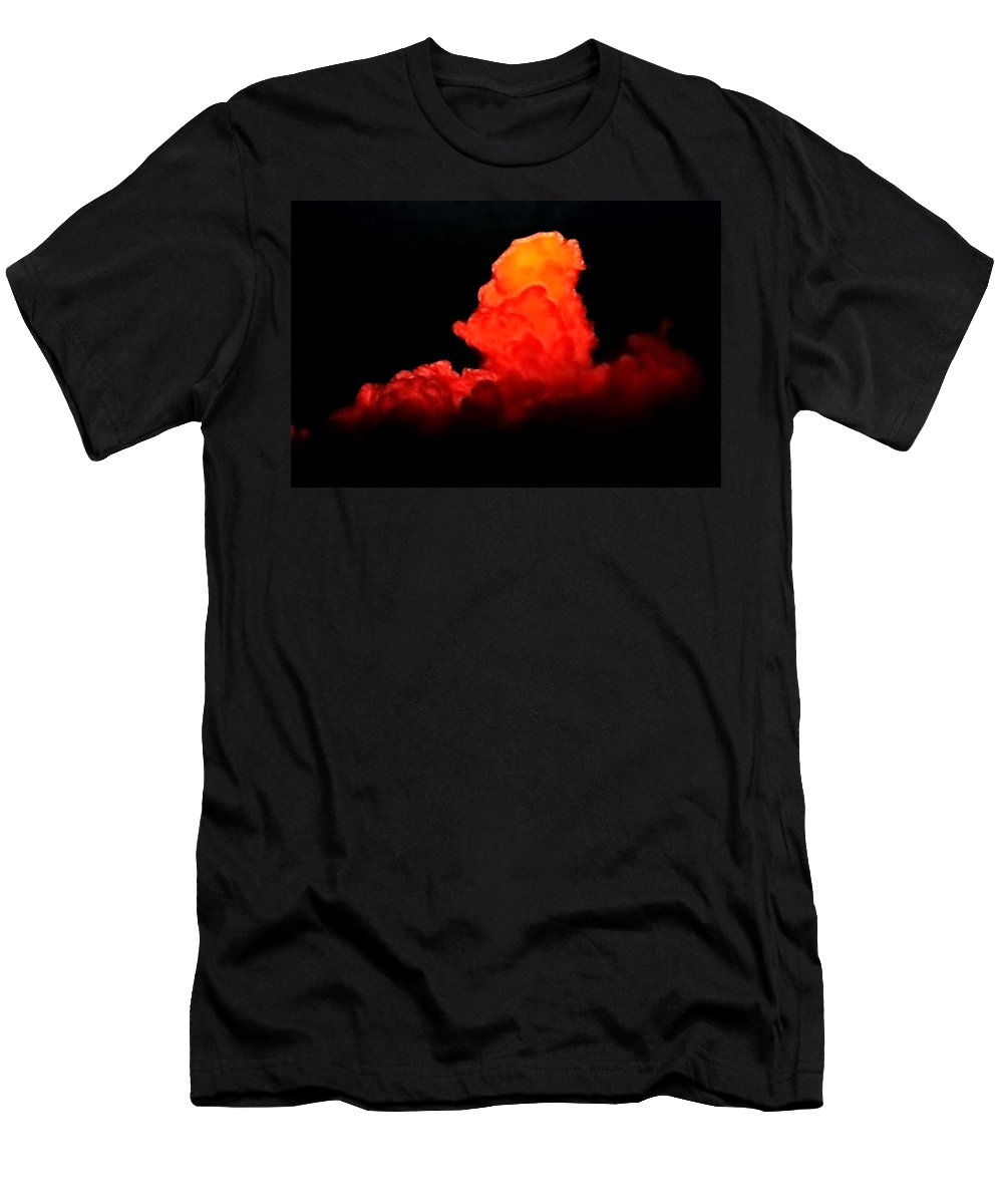 Sunset Men's T-Shirt (Athletic Fit) featuring the photograph Sunset Cloud by Lisa Stanley