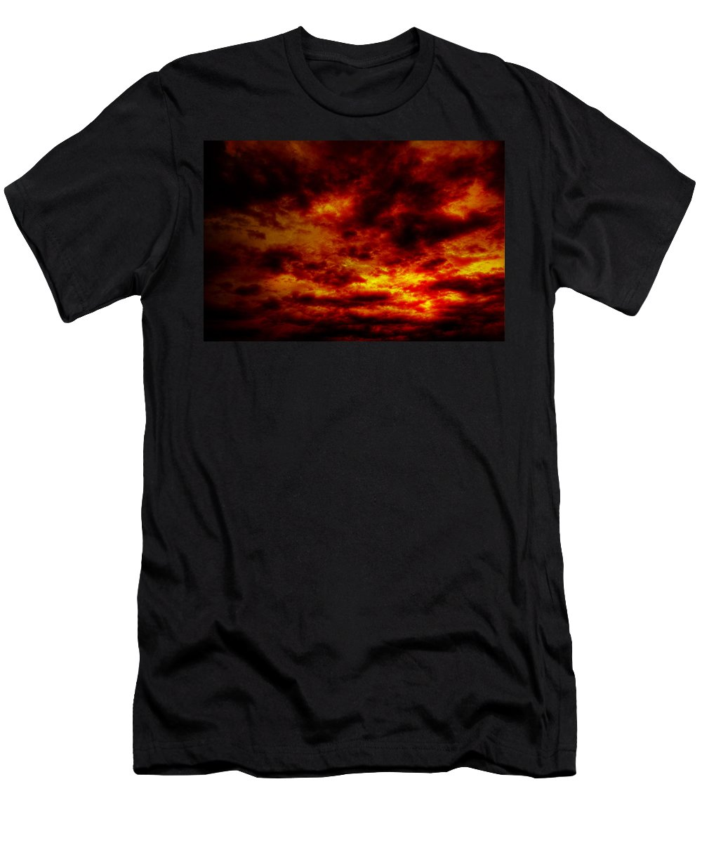 Acrylic Prints Men's T-Shirt (Athletic Fit) featuring the photograph Sunset by John Herzog