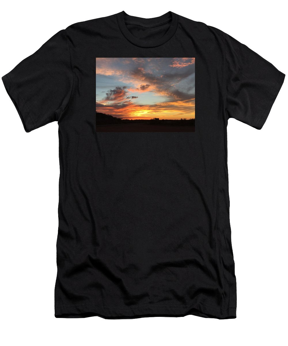 Sunset Men's T-Shirt (Athletic Fit) featuring the photograph Sunset by Marlene Challis