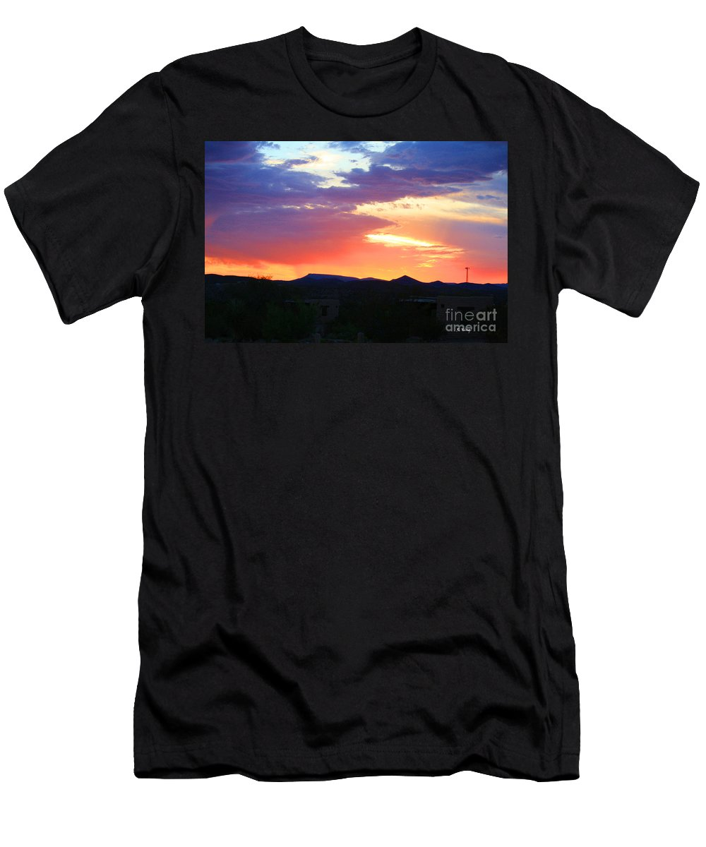 Roena King Men's T-Shirt (Athletic Fit) featuring the photograph Sunset by Roena King