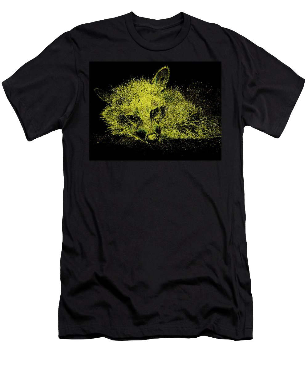 Animal Men's T-Shirt (Athletic Fit) featuring the photograph Sunshaded by Art Dingo