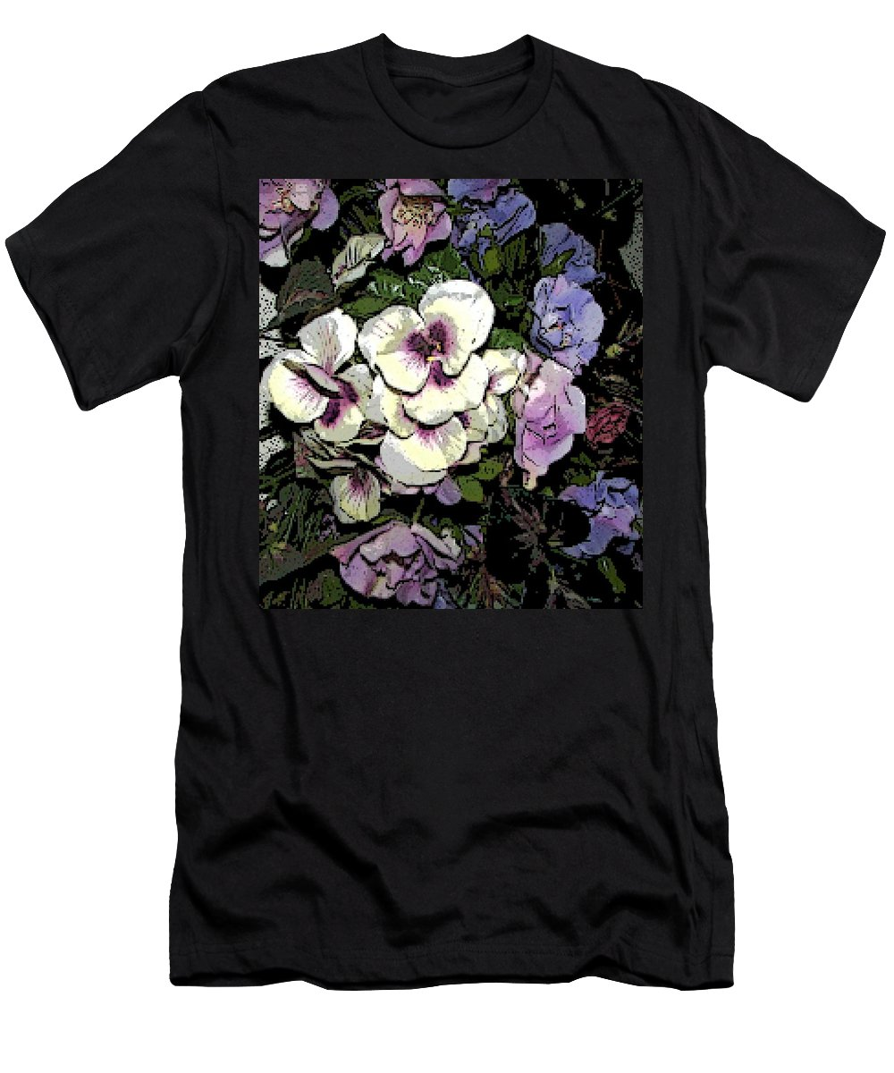 Floral Men's T-Shirt (Athletic Fit) featuring the photograph Surrounding Pansies by Pamela Hyde Wilson