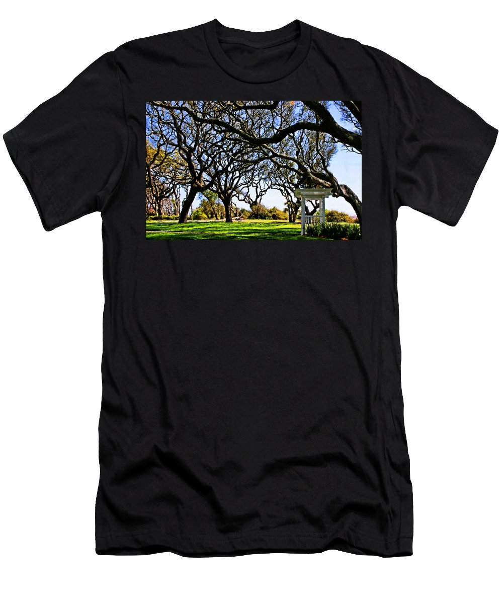 Live Oaks Men's T-Shirt (Athletic Fit) featuring the digital art Tangled by Kristin Elmquist