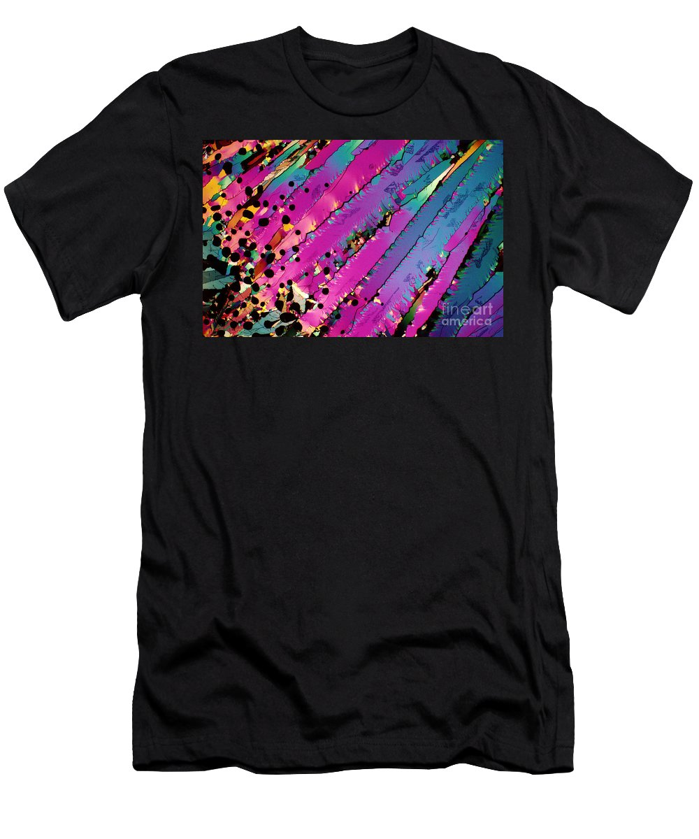 Polarized Light Micrograph Men's T-Shirt (Athletic Fit) featuring the photograph Taxol by Michael W Davidson