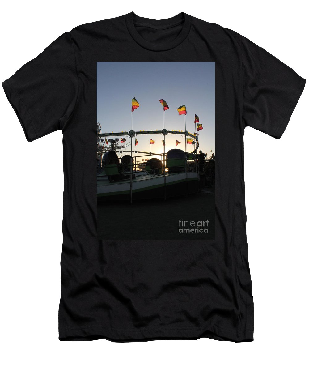 Carnival Men's T-Shirt (Athletic Fit) featuring the photograph Tea Cups At Sunset by Alycia Christine