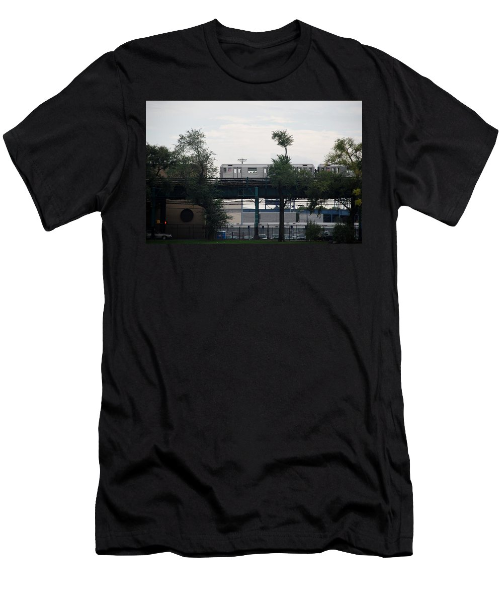 Black And White Men's T-Shirt (Athletic Fit) featuring the photograph The 7 Line by Rob Hans