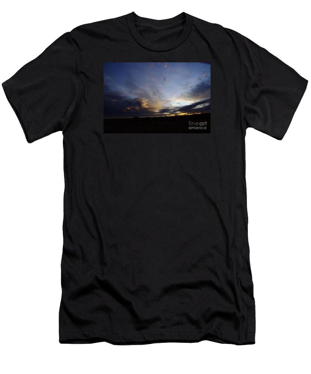 Autumn Men's T-Shirt (Athletic Fit) featuring the photograph The Autumn Sky by Jeff Swan
