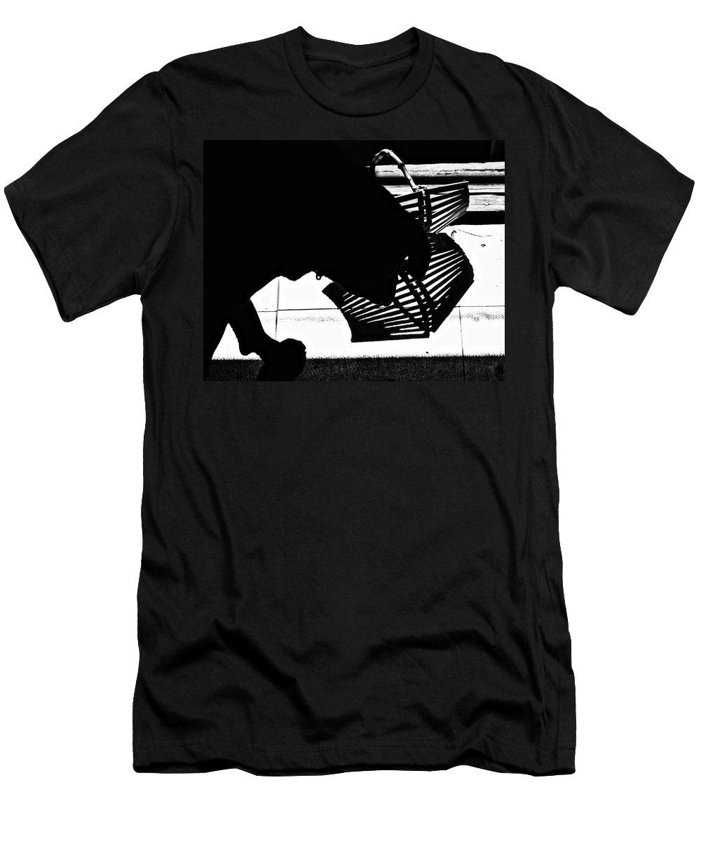 Silhouettes Men's T-Shirt (Athletic Fit) featuring the photograph The Curious One by Susan Capuano