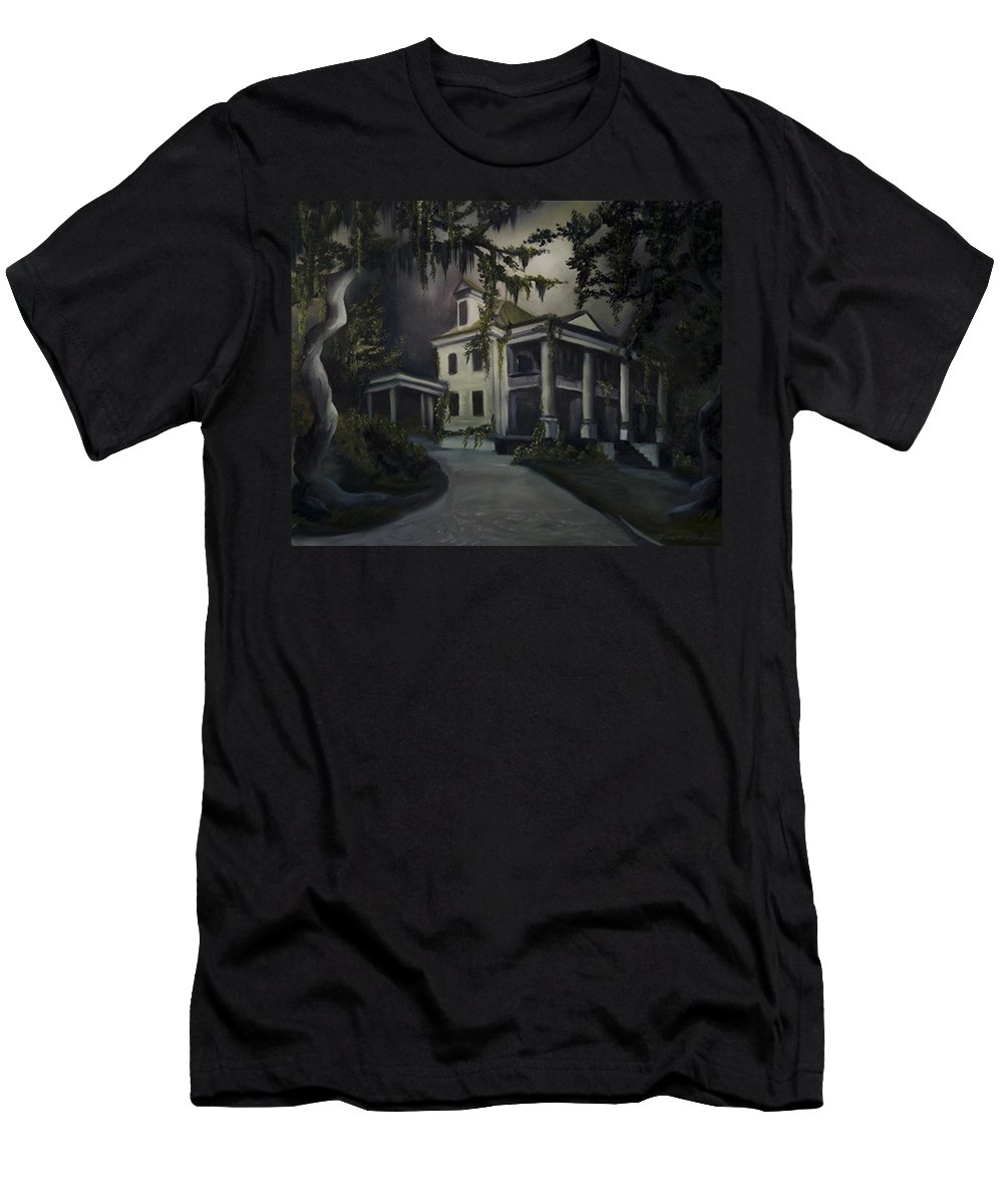 Ruins T-Shirt featuring the painting The Dark Plantation by James Christopher Hill