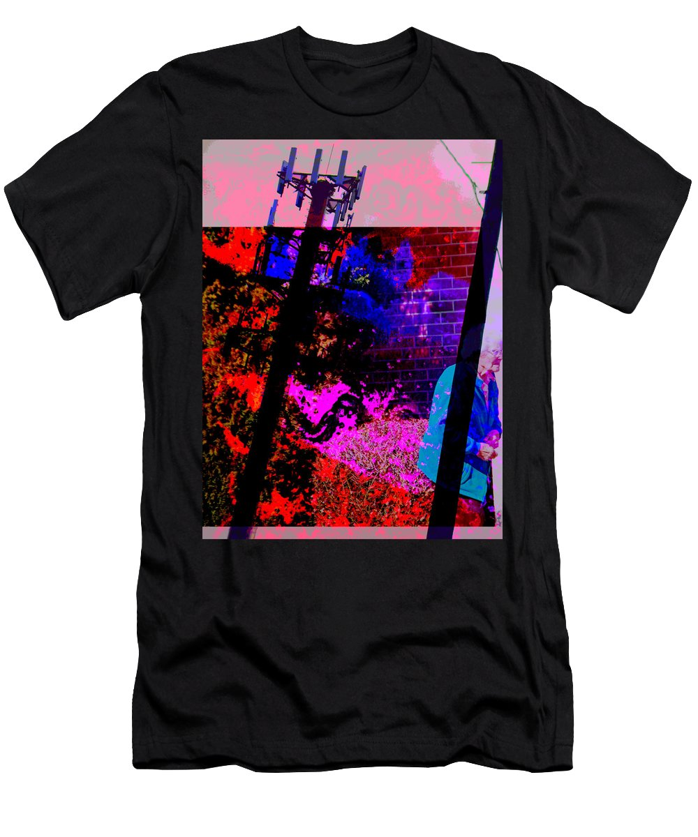 Abstract Men's T-Shirt (Athletic Fit) featuring the photograph The Future Of Nuclear Energy by Lenore Senior