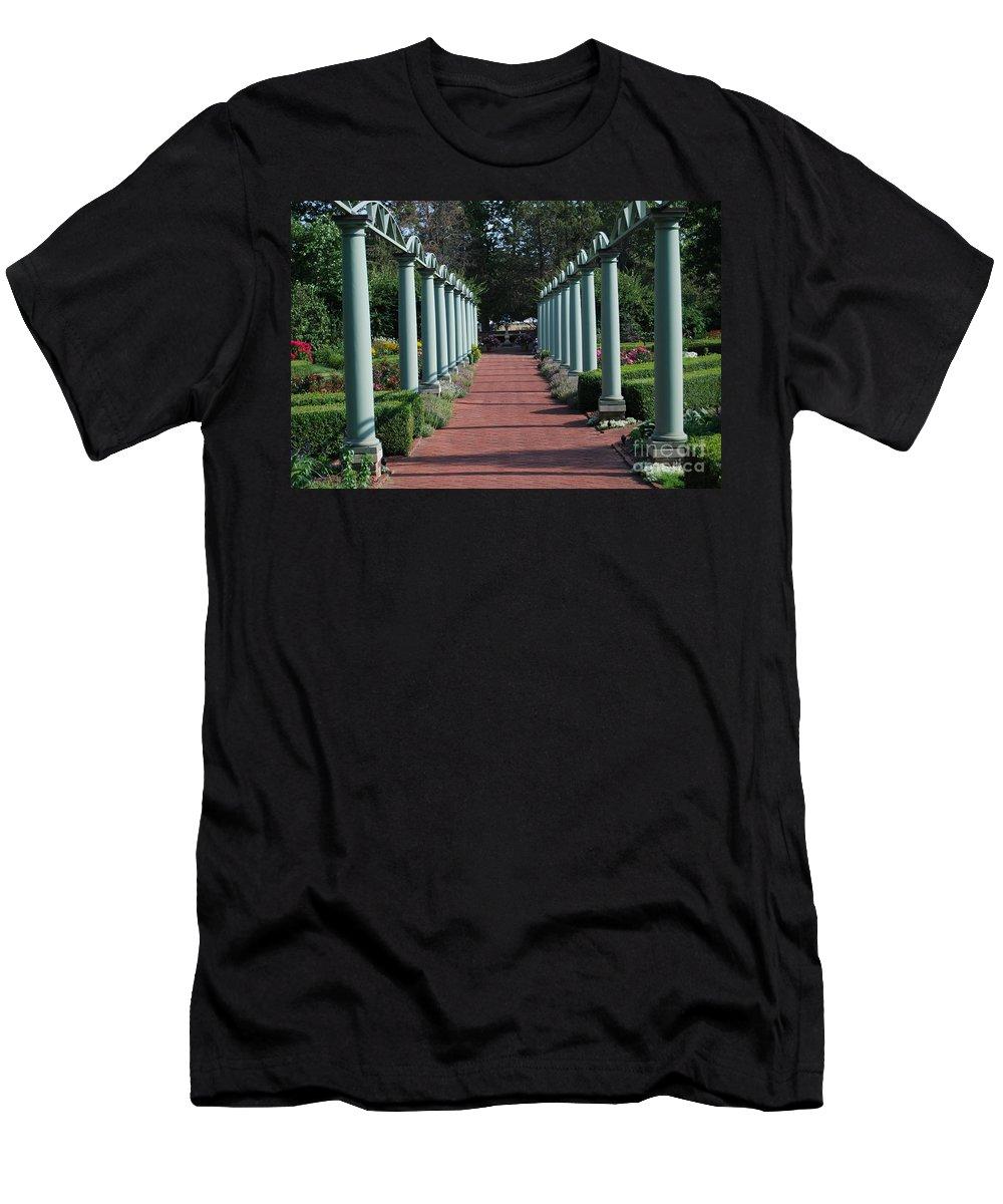 Garden Walk Men's T-Shirt (Athletic Fit) featuring the photograph The Garden Walk by Grace Grogan