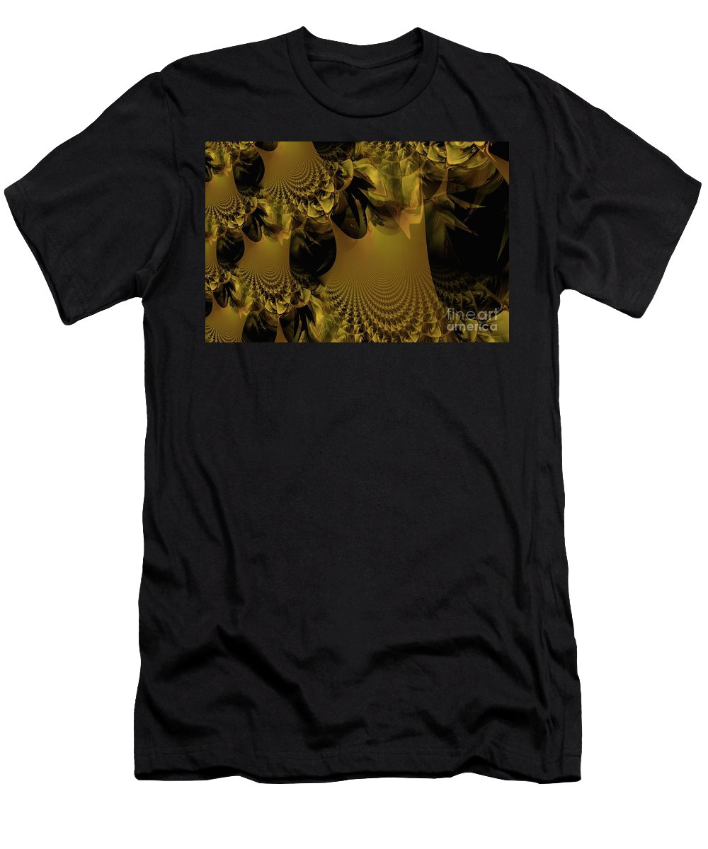 Golden Men's T-Shirt (Athletic Fit) featuring the digital art The Golden Mascarade by Maria Urso