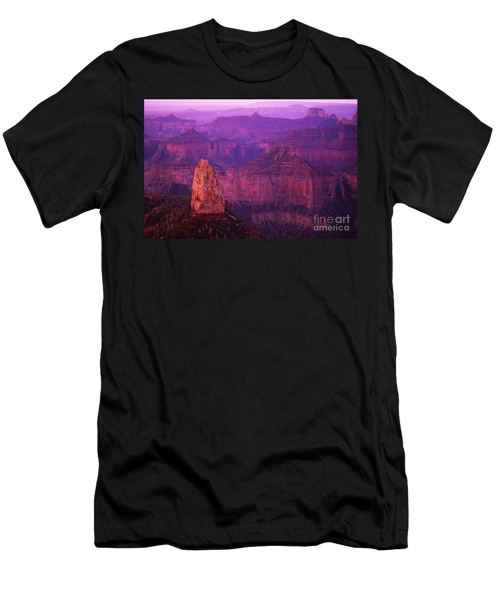 Grand Canyon Men's T-Shirt (Athletic Fit) featuring the photograph The Grand Canyon North Rim by Bob Christopher