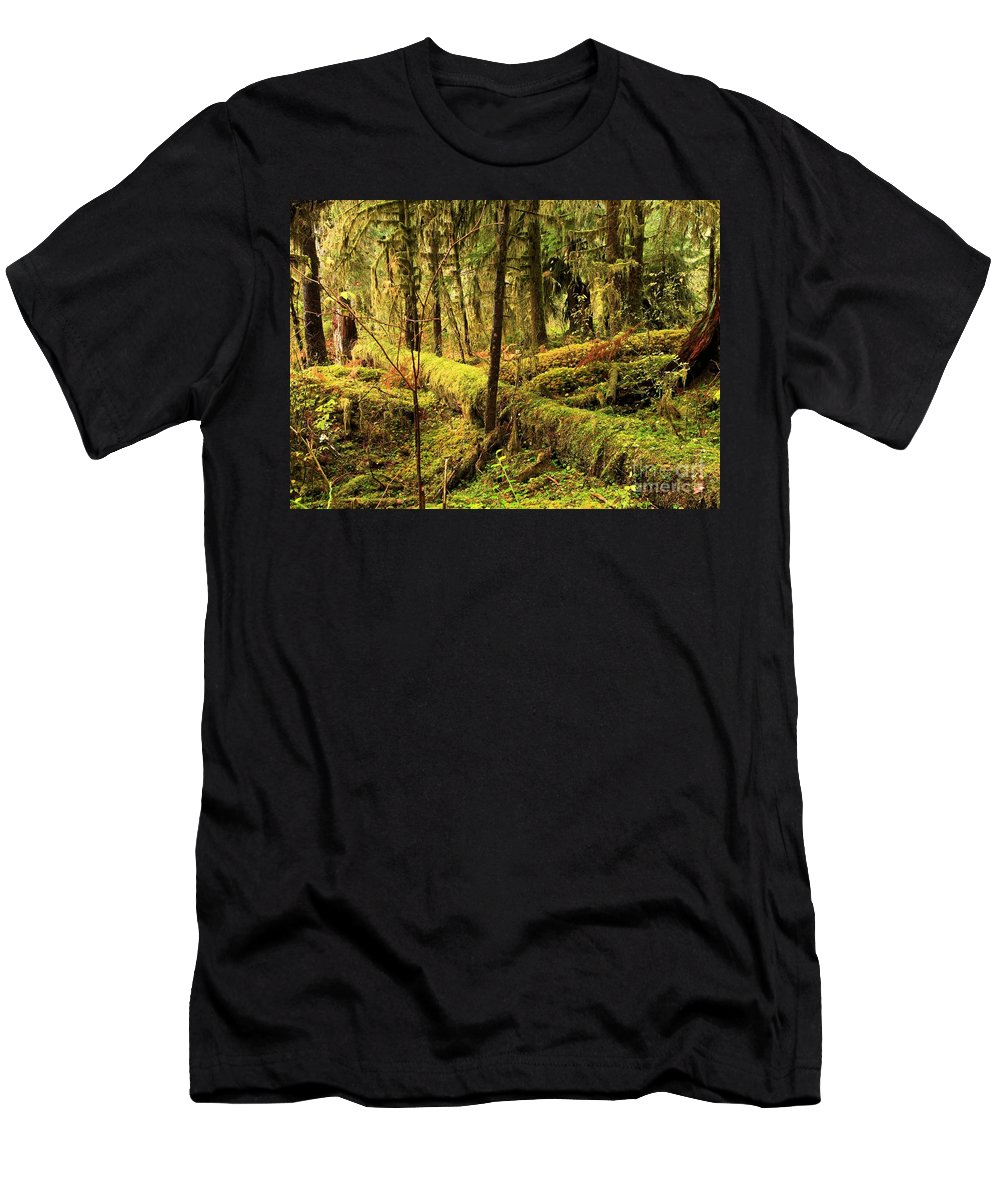 Hoh Rainforest Men's T-Shirt (Athletic Fit) featuring the photograph The Hall Of Mosses by Adam Jewell
