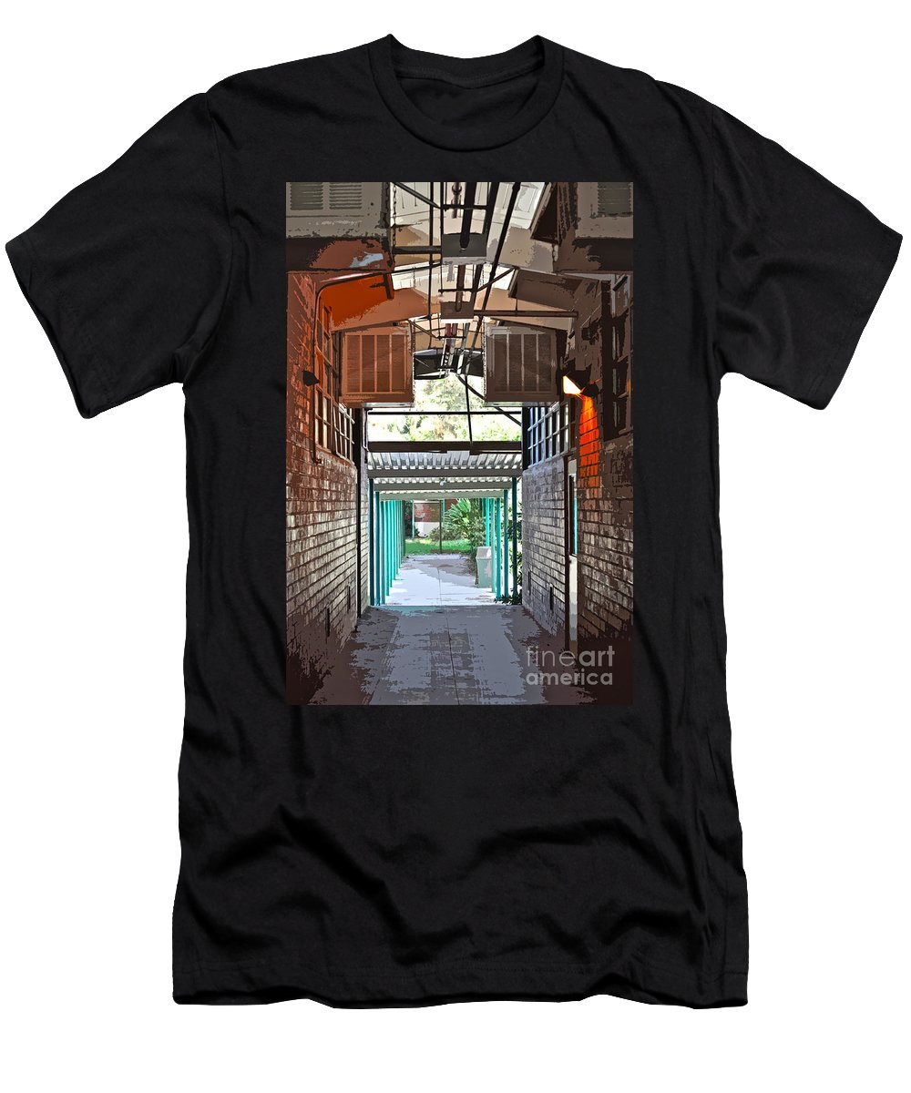 Hallway Men's T-Shirt (Athletic Fit) featuring the photograph The Hallway by Gwyn Newcombe