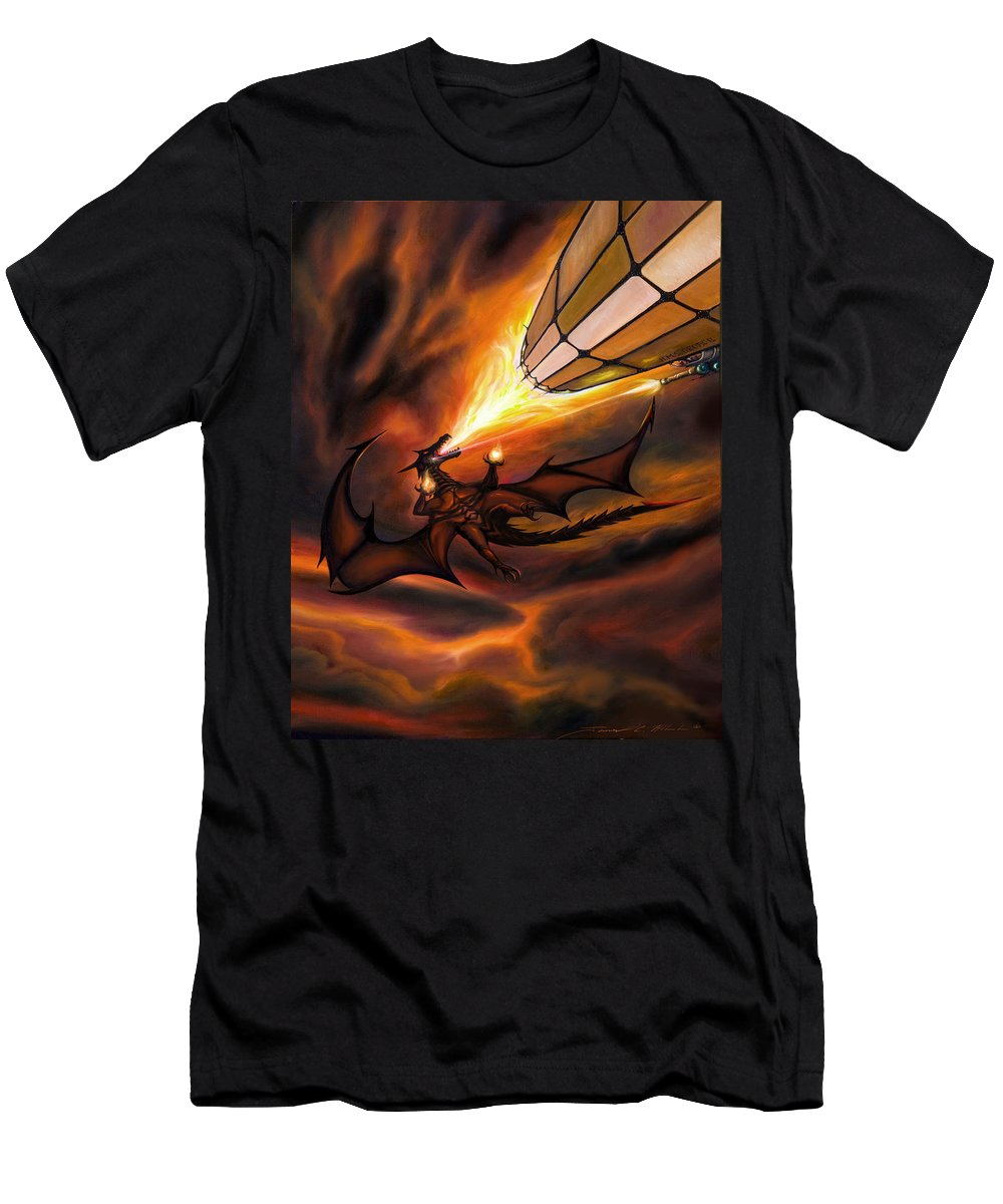 Sunrise T-Shirt featuring the painting The H.M.S. George by James Christopher Hill