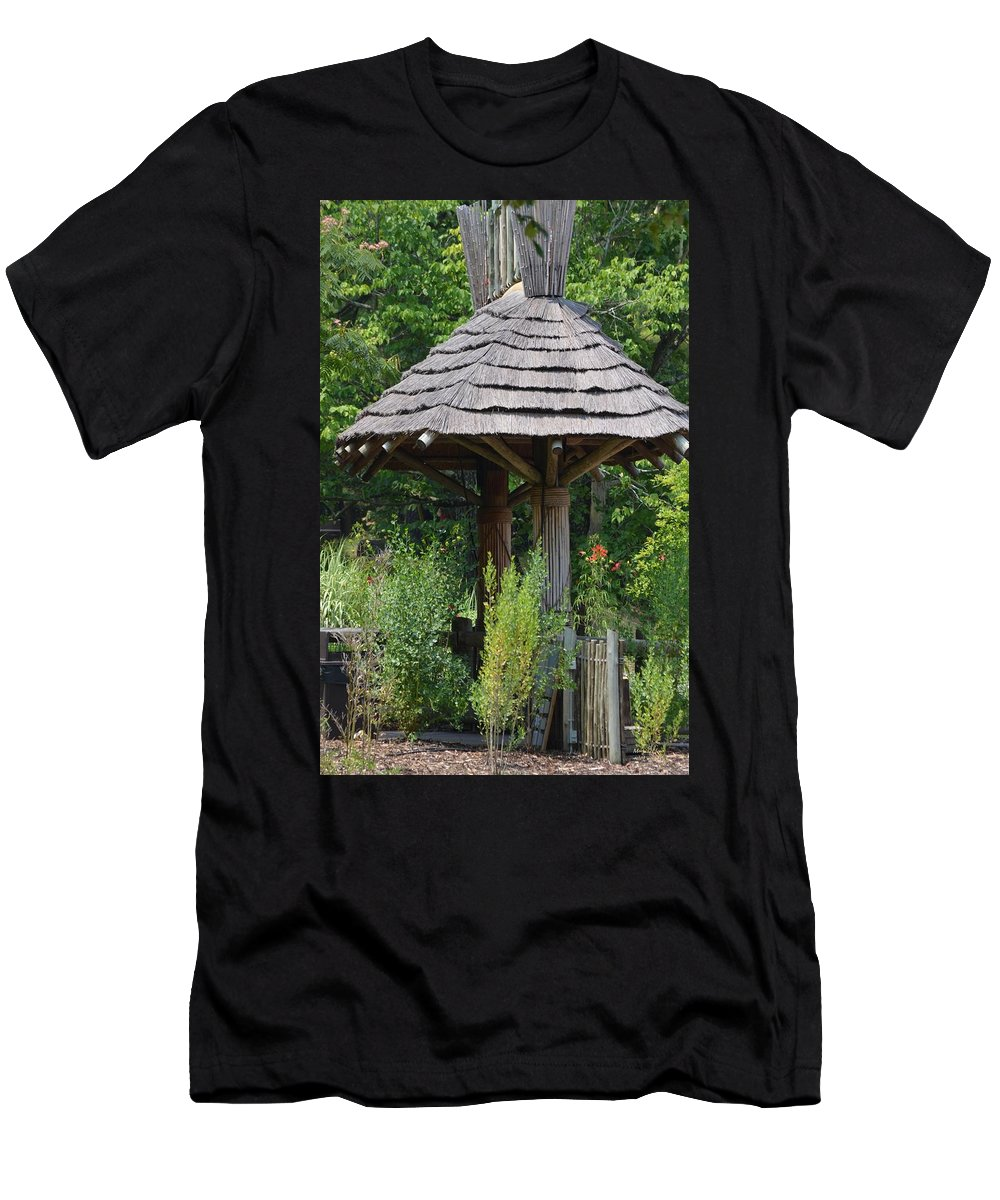 Hut Men's T-Shirt (Athletic Fit) featuring the photograph The Hut by Maria Urso