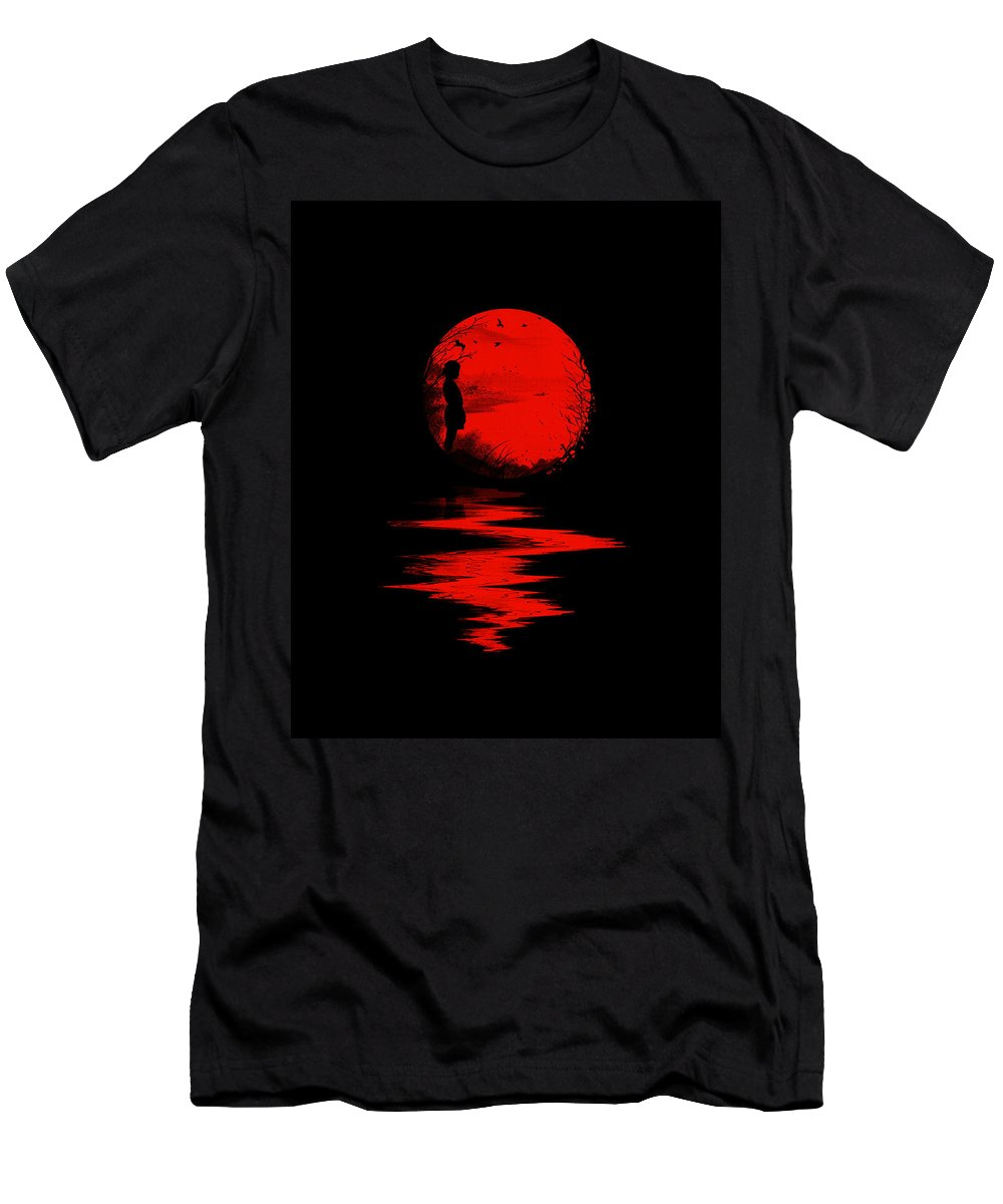 Art T-Shirt featuring the digital art The Land of the Rising Sun by Nicebleed