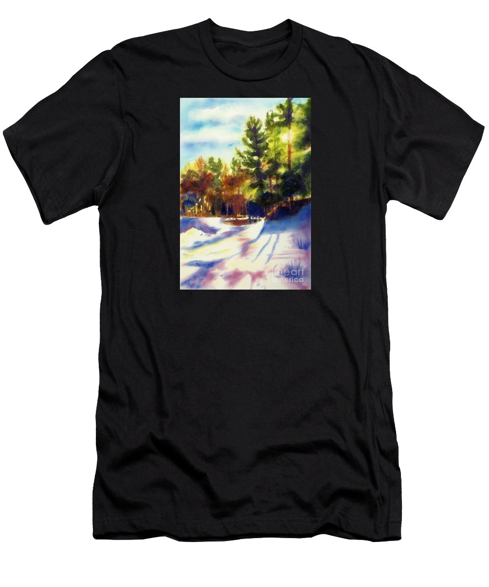 Paintings Men's T-Shirt (Athletic Fit) featuring the painting The Last Traces II by Kathy Braud