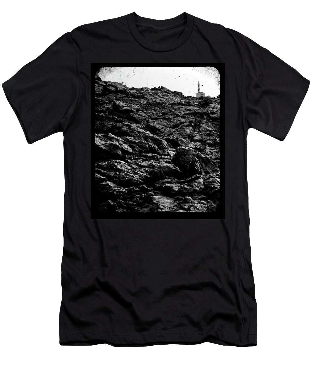 Stone Men's T-Shirt (Athletic Fit) featuring the photograph The Lighthouse1 by Pedro Cardona Llambias