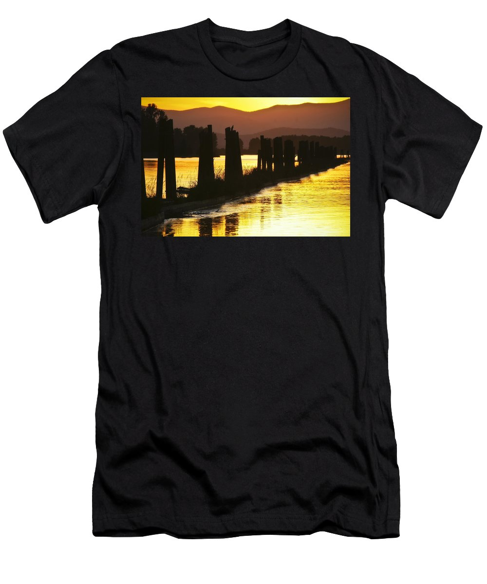 Clark Fork Men's T-Shirt (Athletic Fit) featuring the photograph The Lost River Of Gold by Albert Seger