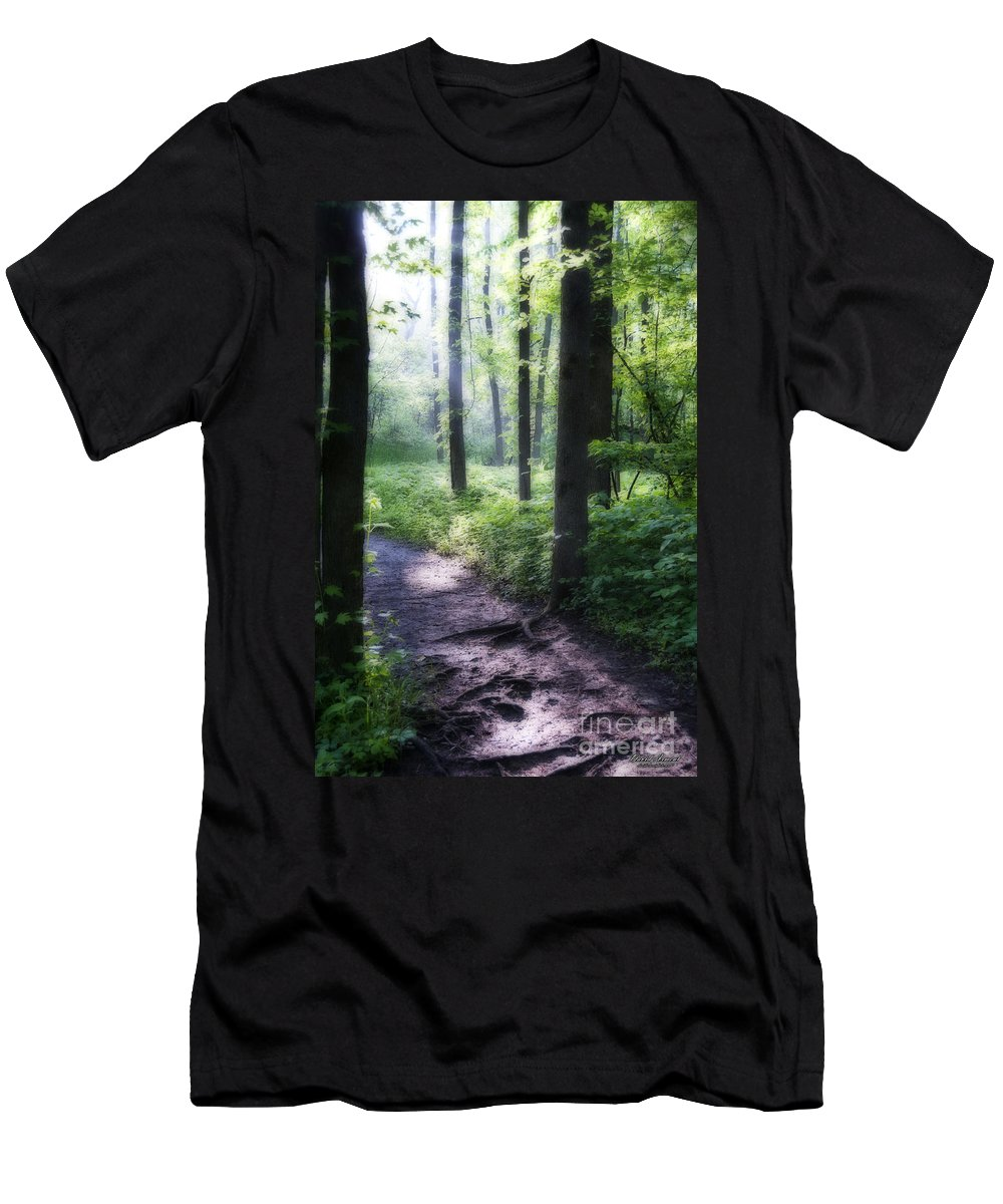 Path Men's T-Shirt (Athletic Fit) featuring the photograph The Path by David Arment