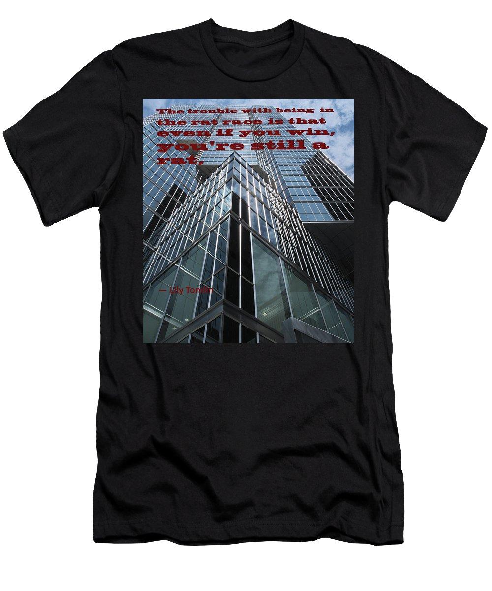 Rat Men's T-Shirt (Athletic Fit) featuring the photograph The Rat Race by Ian MacDonald