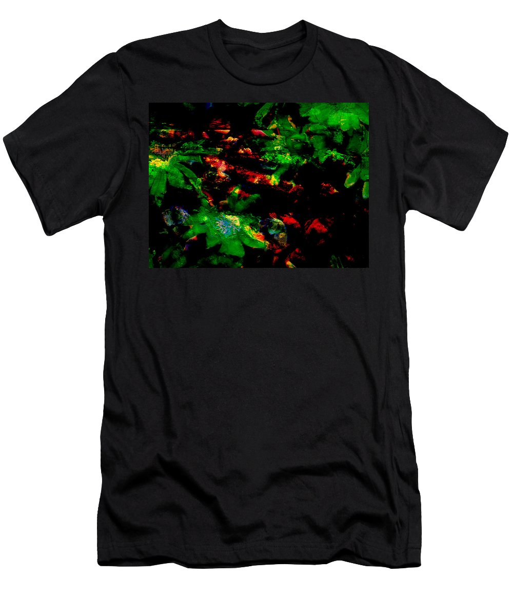 Abstract Men's T-Shirt (Athletic Fit) featuring the photograph The Red Path by Lenore Senior