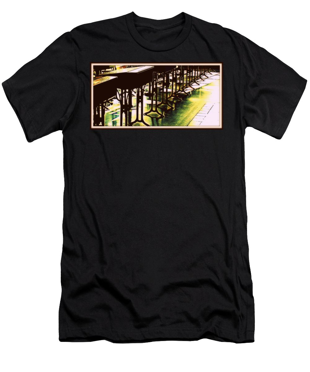 School House Men's T-Shirt (Athletic Fit) featuring the photograph The Shcool Room by Marysue Ryan