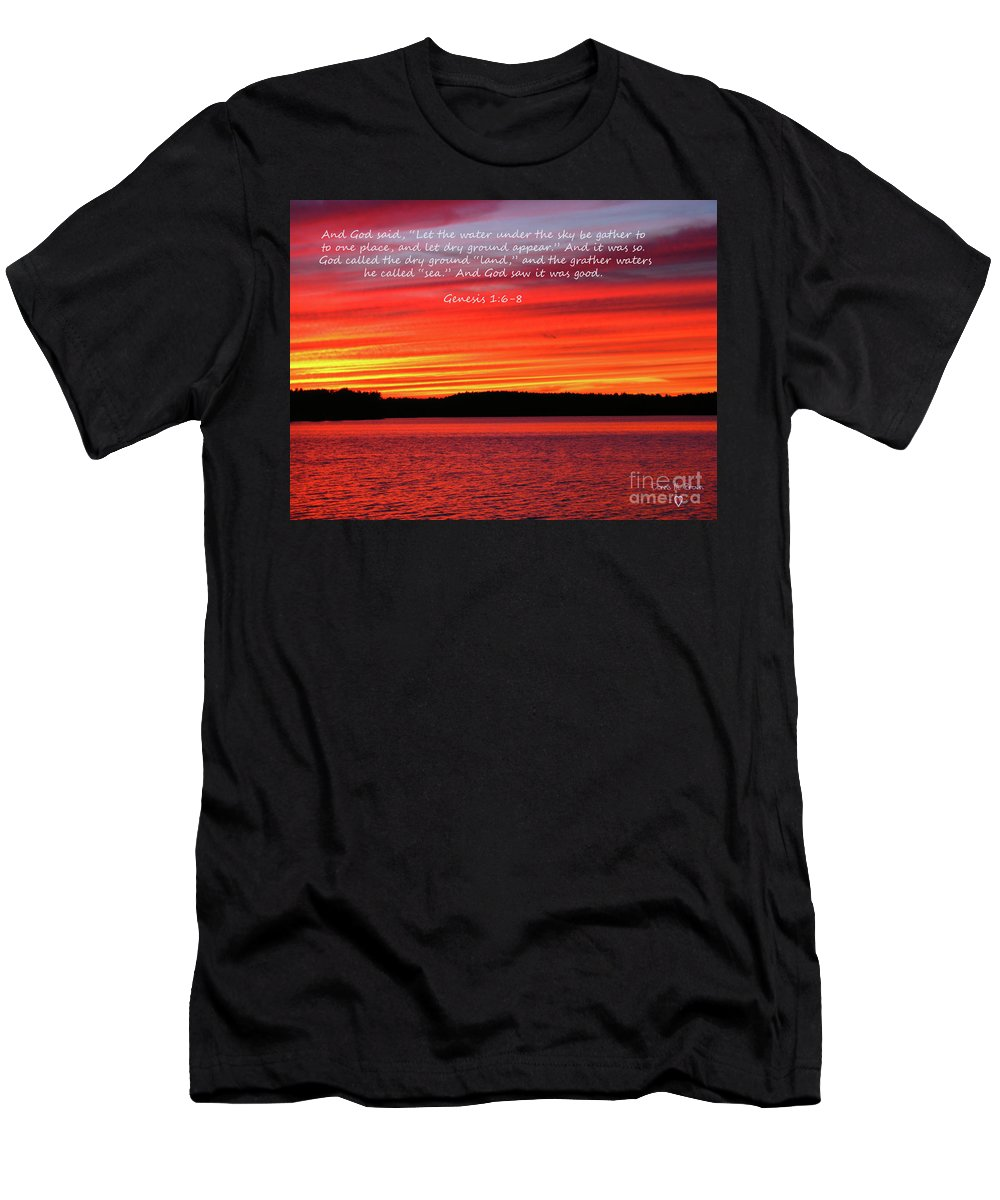 Sky Men's T-Shirt (Athletic Fit) featuring the photograph The Third Day by Donna Brown