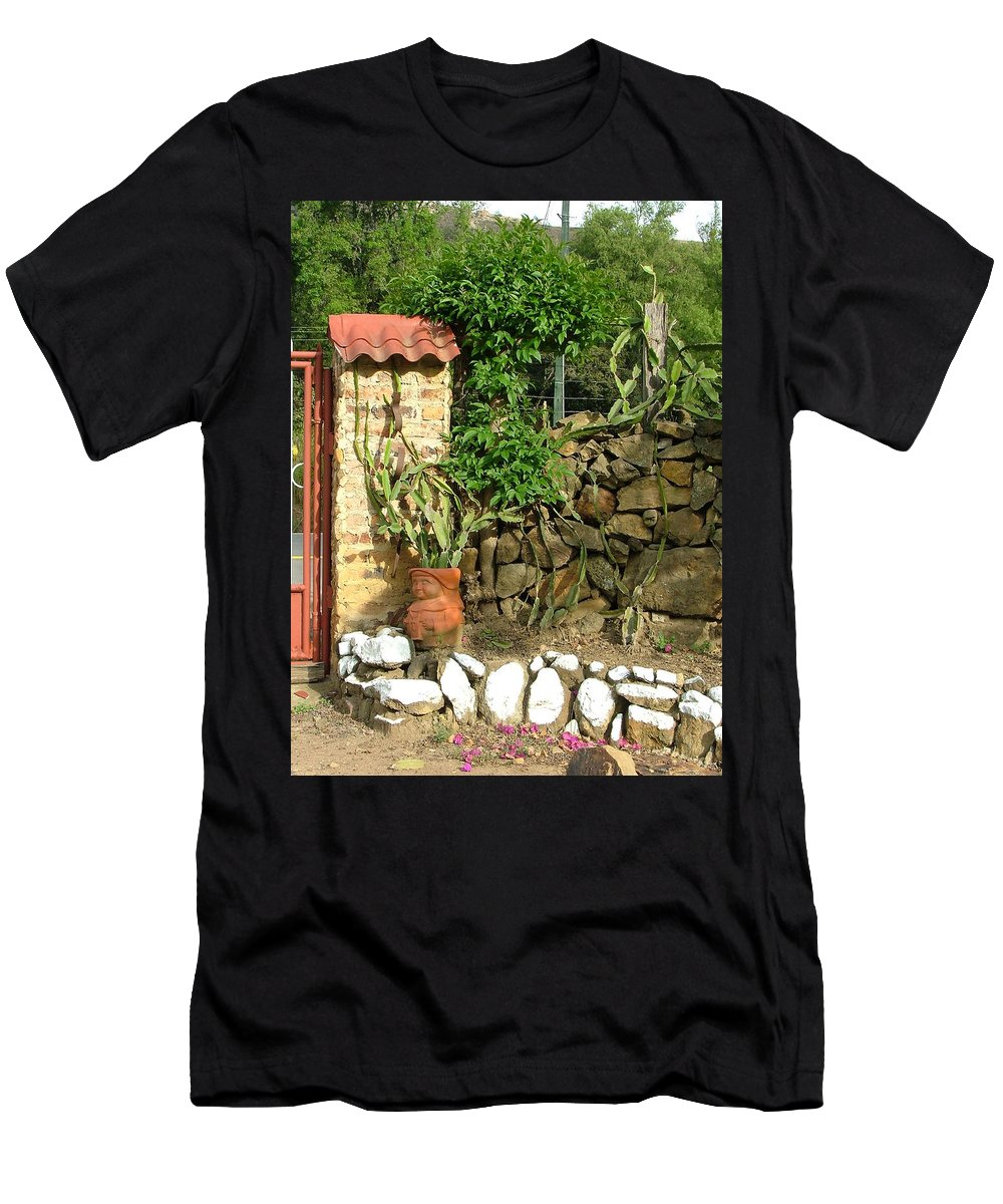 Landscape Men's T-Shirt (Athletic Fit) featuring the photograph The Wall by Dennis Pintoski