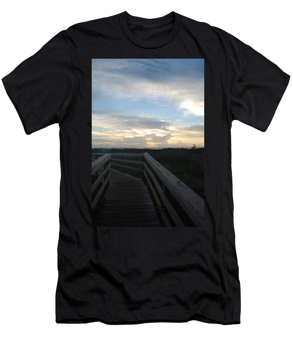 Sky Men's T-Shirt (Athletic Fit) featuring the photograph The Way Home by T Campbell