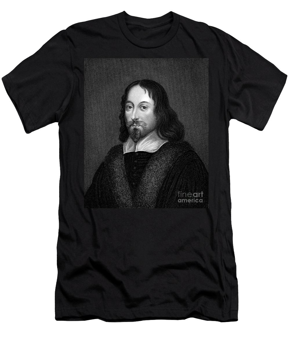 Beard Men's T-Shirt (Athletic Fit) featuring the photograph Thomas Browne (1605-1682) by Granger