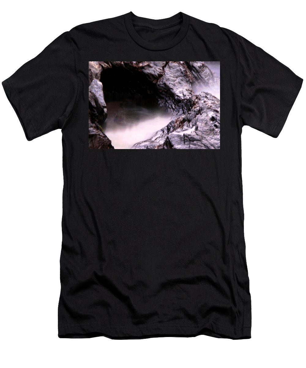 Tides Men's T-Shirt (Athletic Fit) featuring the photograph Tides In Sunset by Rebecca Akporiaye
