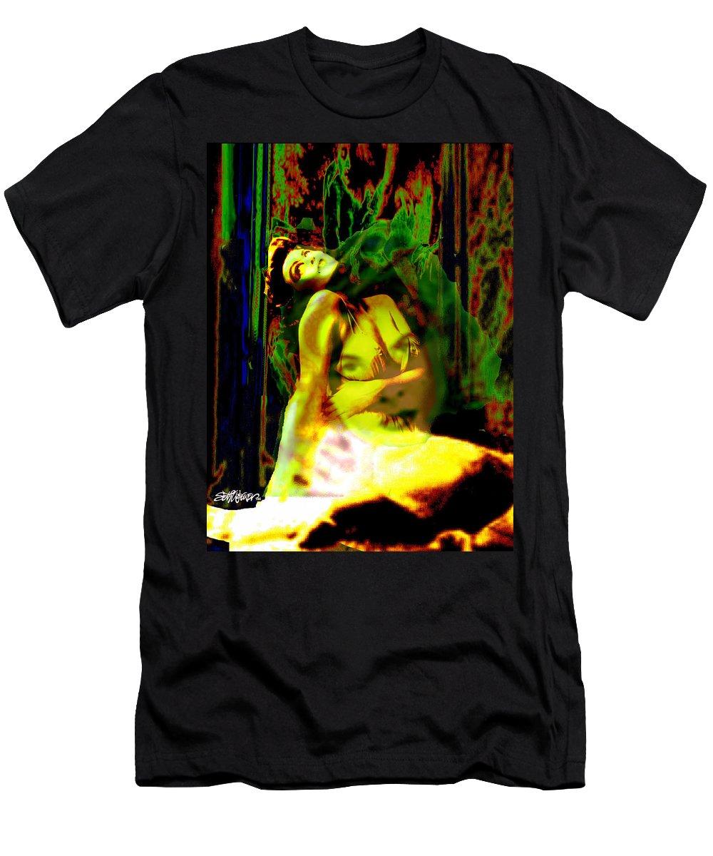 Tortured Memories Men's T-Shirt (Athletic Fit) featuring the digital art Tortured Memories by Seth Weaver